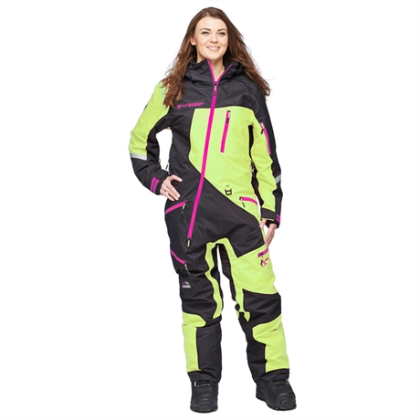 Skoteroverall Sweep Snow Queen 2 ladies insulated suit Svart/Gul/Rosa