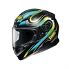 MC Hjälm Shoei NXR Intense TC3 Sv/bl/gul